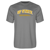 Performance Grey Concrete Tee-Baseball