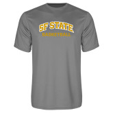Performance Grey Concrete Tee-Basketball