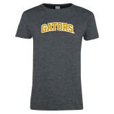 Ladies Dark Heather T Shirt-Gators