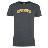 Ladies Dark Heather T Shirt-SF State