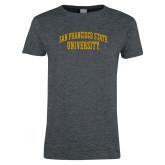 Ladies Dark Heather T Shirt-San Francisco State University