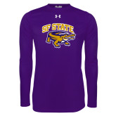 Under Armour Purple Long Sleeve Tech Tee-Primary Mark