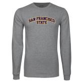 Grey Long Sleeve T Shirt-San Francisco State