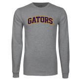 Grey Long Sleeve T Shirt-Gators