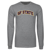 Grey Long Sleeve T Shirt-SF State