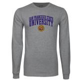 Grey Long Sleeve T Shirt-San Francisco State University