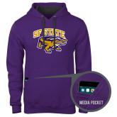 Contemporary Sofspun Purple Hoodie-Primary Mark