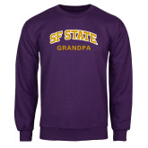 Purple Fleece Crew-Grandpa