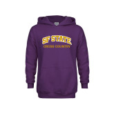 Youth Purple Fleece Hoodie-Cross Country