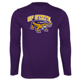 Performance Purple Longsleeve Shirt-Primary Mark