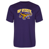 Syntrel Performance Purple Tee-Primary Mark