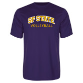 Performance Purple Tee-Volleyball