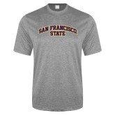 Performance Grey Heather Contender Tee-San Francisco State