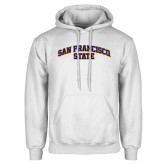 White Fleece Hoodie-San Francisco State