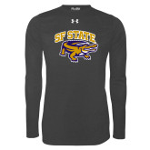 Under Armour Carbon Heather Long Sleeve Tech Tee-Primary Mark