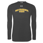 Under Armour Carbon Heather Long Sleeve Tech Tee-San Francisco State