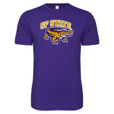 Next Level SoftStyle Purple T Shirt-Primary Mark