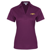 Ladies Purple Performance Fine Jacquard Polo-San Francisco State