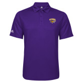 Adidas Climalite Purple Game Time Polo-Primary Mark