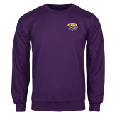 Purple Fleece Crew-Primary Mark