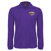 Fleece Full Zip Purple Jacket-Primary Mark