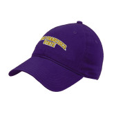 Purple Twill Unstructured Low Profile Hat-San Francisco State