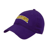 Purple Twill Unstructured Low Profile Hat-Gators