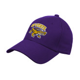 Purple Heavyweight Twill Pro Style Hat-Primary Mark