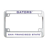 Metal Motorcycle License Plate Frame in Chrome-Gators