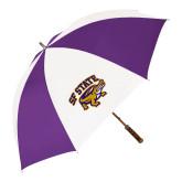 64 Inch Purple/White Umbrella-Primary Mark