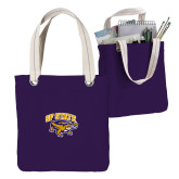 Allie Purple Canvas Tote-Primary Mark