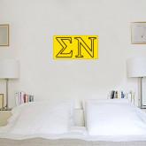 1.5 ft x 3 ft Fan WallSkinz-Greek Letters w/ Trim
