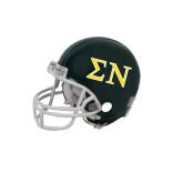 Riddell Replica Black Mini Helmet-Greek Letters w/ Trim