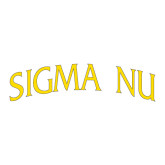 Large Decal-Arched Sigma Nu, 12 inches wide