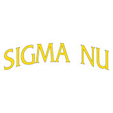 Extra Large Decal-Arched Sigma Nu, 18 inches wide