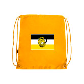 Gold Drawstring Backpack-Sigma Nu Flag