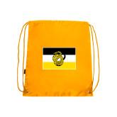 Nylon Gold Drawstring Backpack-Sigma Nu Flag