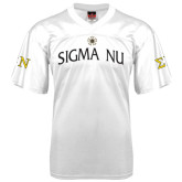 Replica White Adult Football Jersey-Sigma Nu
