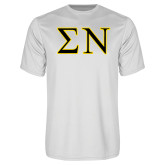Syntrel Performance White Tee-Greek Letters w/ Trim