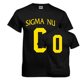 Black T Shirt-Sigma Nu Custom Tee w/ Number
