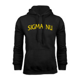 Black Fleece Hoodie-Arched Sigma Nu