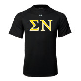 Under Armour Black Tech Tee-Greek Letters w/ Trim