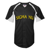 Replica Black Adult Baseball Jersey-Sigma Nu