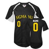 Replica Black Adult Baseball Jersey-Sigma Nu Personalized