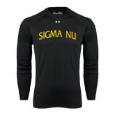 Under Armour Black Long Sleeve Tech Tee-Arched Sigma Nu