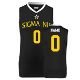 Replica Black Adult Basketball Jersey-Sigma Nu Personalized