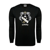Black Long Sleeve TShirt-Coat Of Arms
