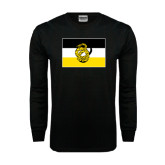 Black Long Sleeve TShirt-Sigma Nu Flag