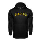 Under Armour Black Performance Sweats Team Hoodie-Arched Sigma Nu