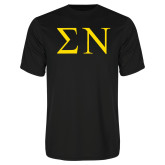 Performance Black Tee-Greek Letters